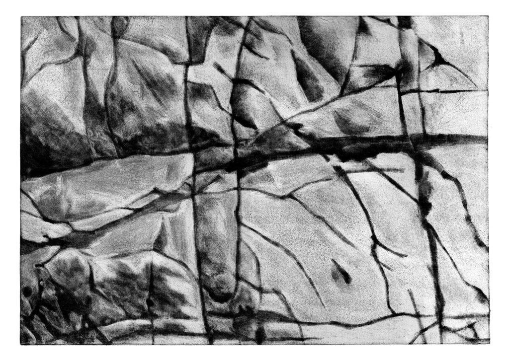 Kámen Slovenská republika · mezzotinta · 35 x 50 cm 2009