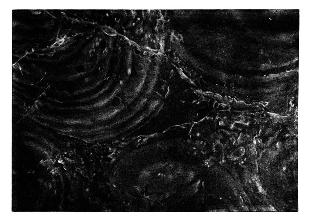 Kámen Černá hora · mezzotinta · 35 x 50 cm 2009