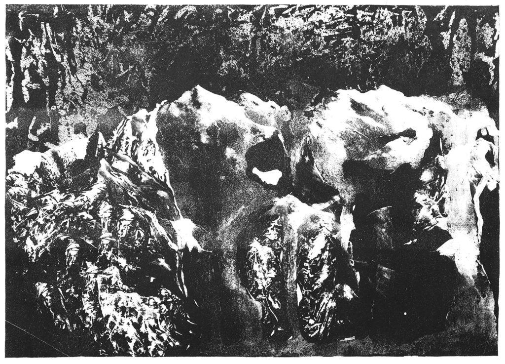 Kamenné hory · litografie · 70 x 100 cm 2016