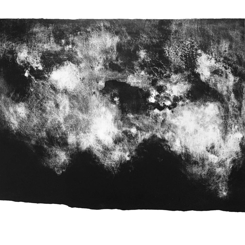 grafický cyklus Nic tam není · litografie · 68 x 75 cm 2018